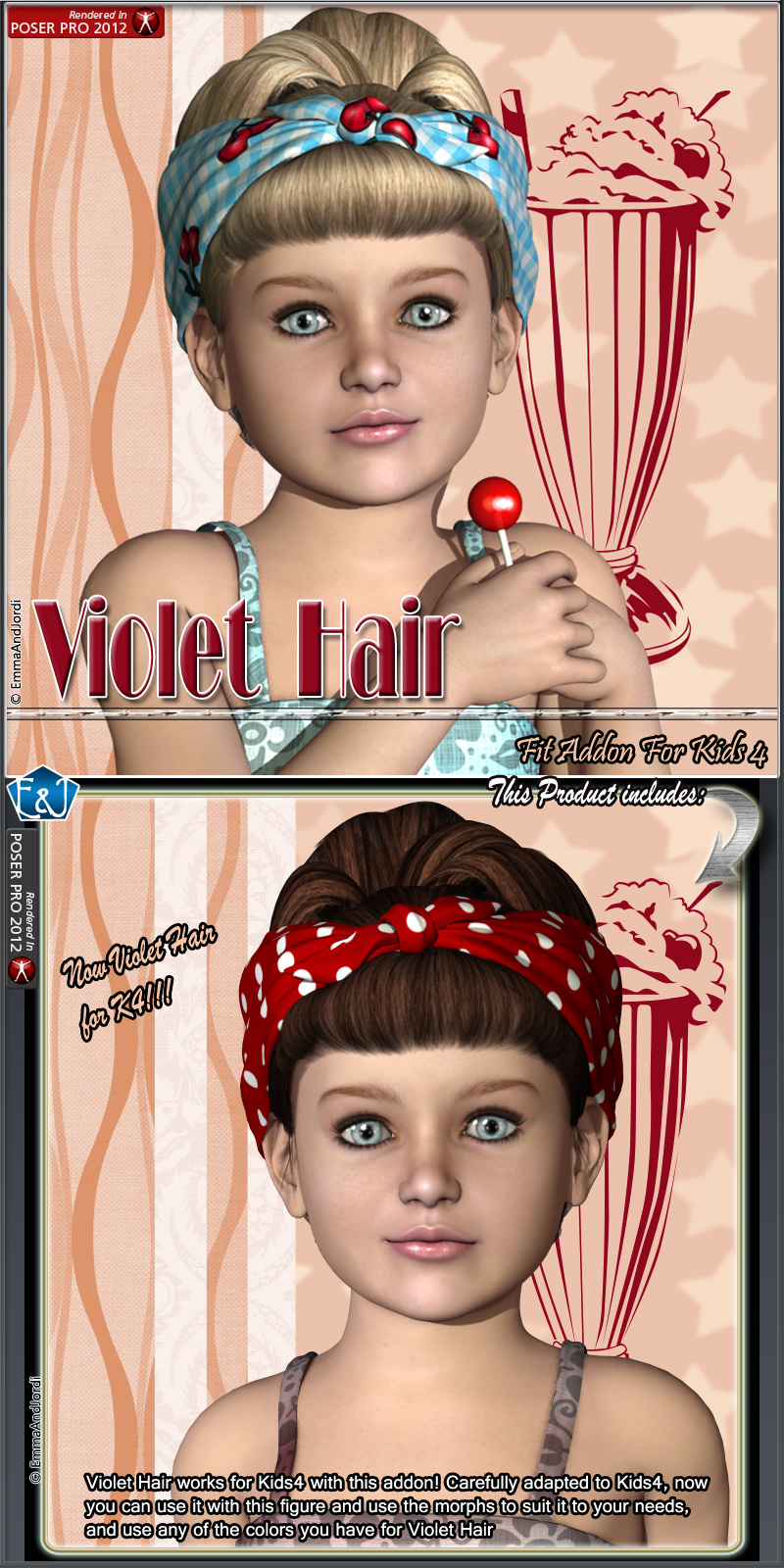 Kids4 Fit Addon For Violet Hair