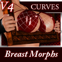 V4 Curves WonderBreast Morphs 3D Figure Essentials 3D Models meipe
