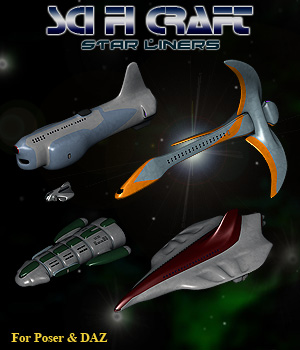 Space Star Liners Themed Props/Scenes/Architecture Transportation Simon-3D