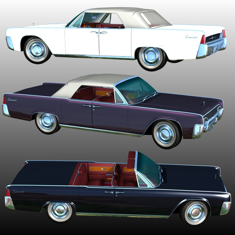 LINCOLN CONTINENTAL 1961 (for Poser) by 3DClassics