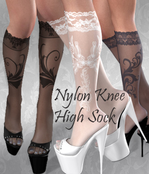 Luxury Style _ Nylon Knee-High Socks 3D Models 3D Figure Assets Arryn