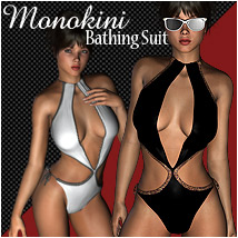 Monokini Bathing Suit Clothing Software Themed RPublishing