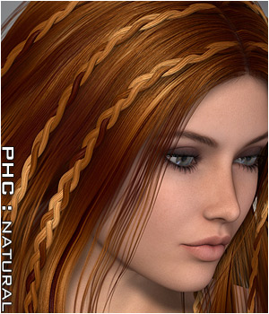 PHCNatural : Nabia Themed Hair P3D-Art