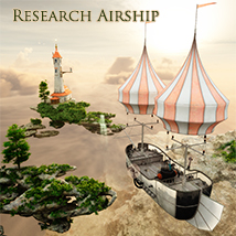 Research Airship Themed Transportation 1971s
