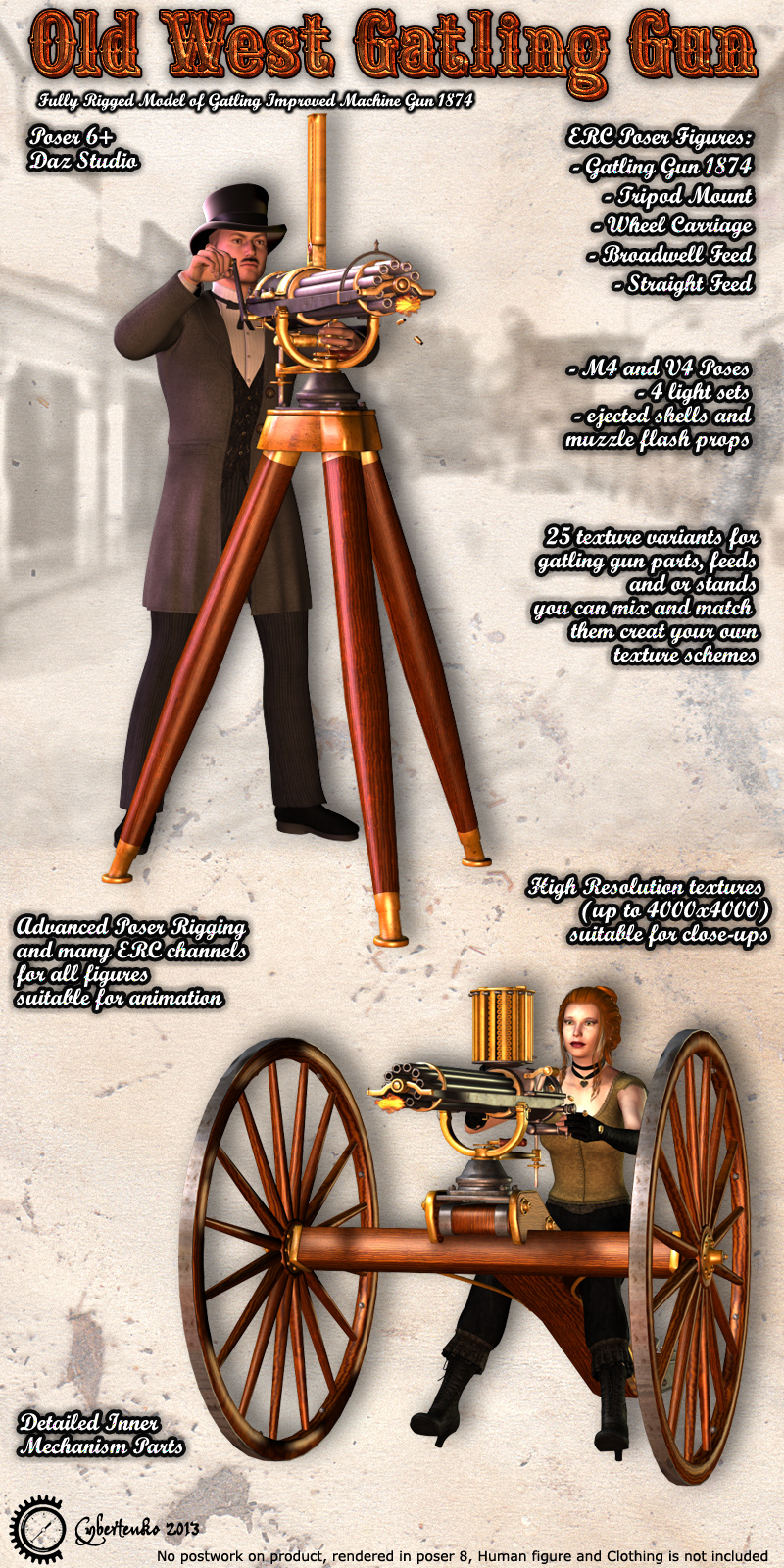 Old West Gatling Gun