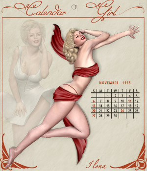 Calendar Girl 3D Models 3D Figure Essentials ilona
