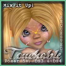 Touchable Toon Salon Hair Series-1 Hair Themed -Wolfie-