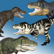 Add-on Textures for Dinoraul's TyrannosaurusDR2 3D Models MNArtist