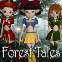Forest Tales 3D Figure Essentials 3D Models JudibugDesigns