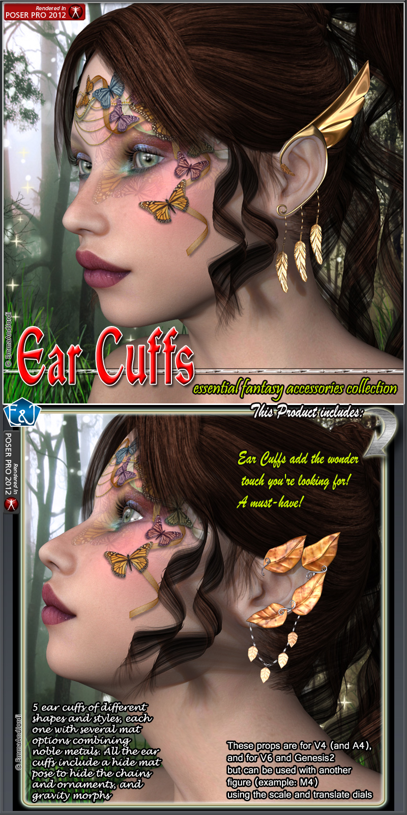 Ear Cuffs For V4 V6 And Genesis 2