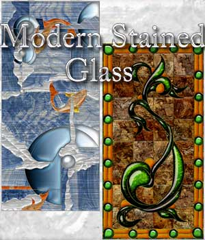 Harvest Moons Modern Stained Glass 2D And/Or Merchant Resources Themed MOONWOLFII