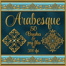 ARABESQUE Brushes and png Files Pack 2D And/Or Merchant Resources fractalartist01