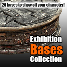 Exhibition Bases Collection 3D Models powerage