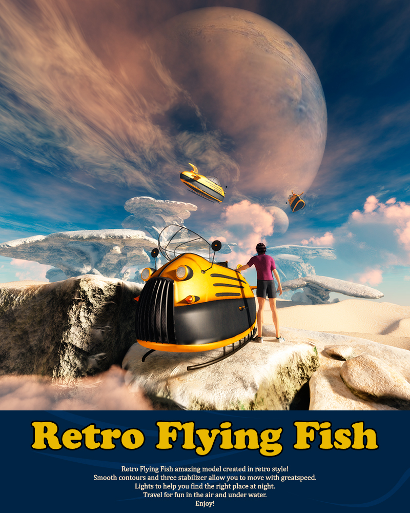 Retro Flying Fish