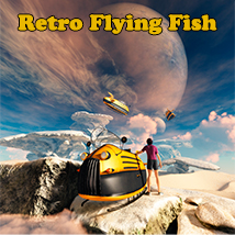Retro Flying Fish Transportation Themed 1971s