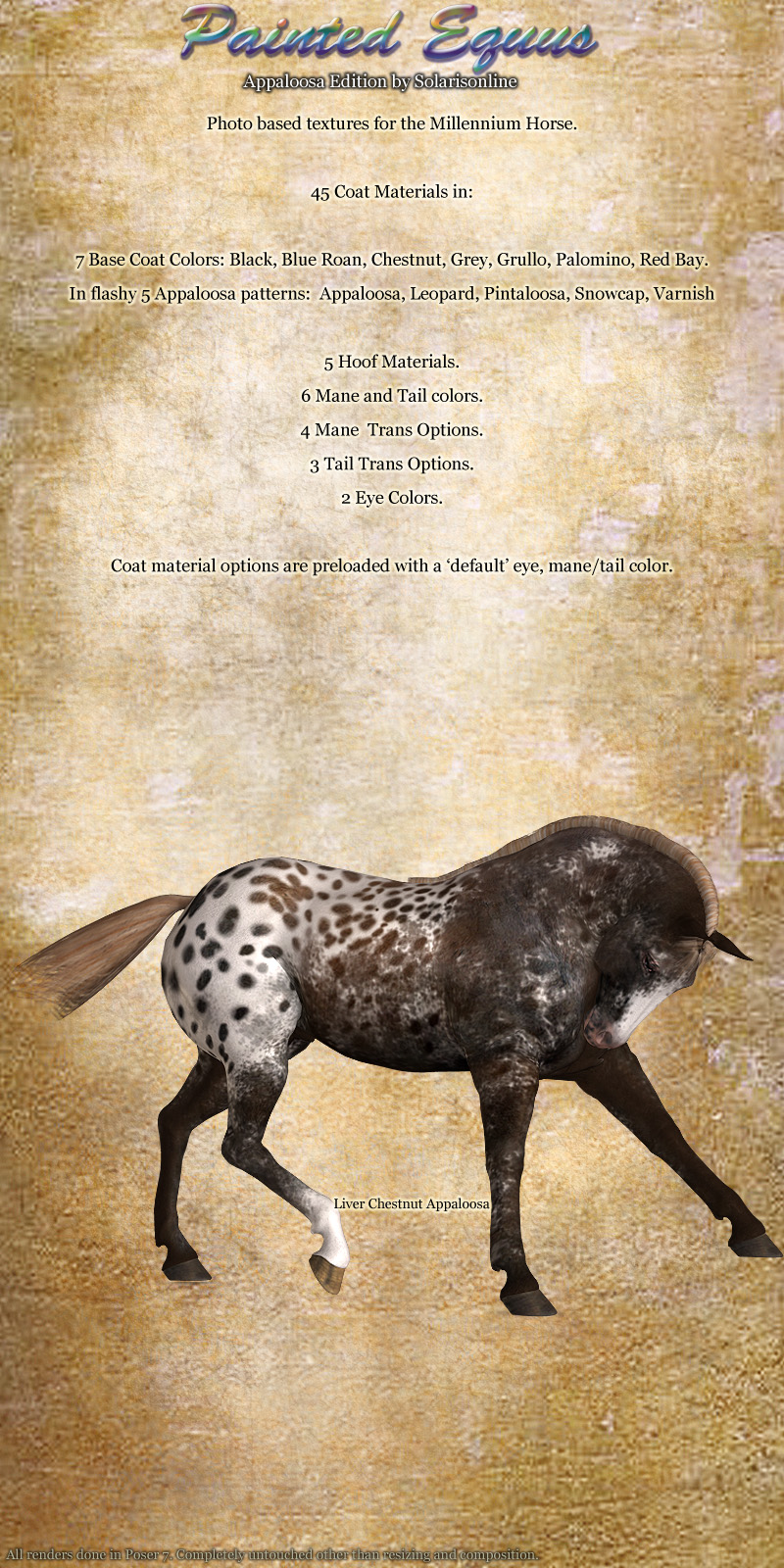 Painted Equus Appaloosa Editionbysolarisonline()