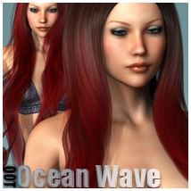 Ocean Wave Hair and OOT Hairblending 3D Figure Assets outoftouch