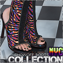 NYC Collections: ShowOff Boots 3D Figure Assets 3DSublimeProductions