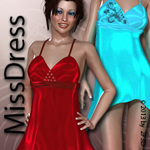 MissDress 3D Figure Assets 3D Models Zoe