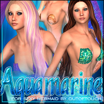 Aquamarine for Sexy Mermaid 3D Figure Assets 3D Models ShanasSoulmate