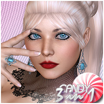 Candy 3 in 1 Ponytail Themed Hair Sveva