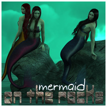 Mermaid On The Rocks Props/Scenes/Architecture Poses/Expressions Themed outoftouch