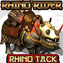 Rhino Rider - The Tack Themed Transportation Animals Cybertenko
