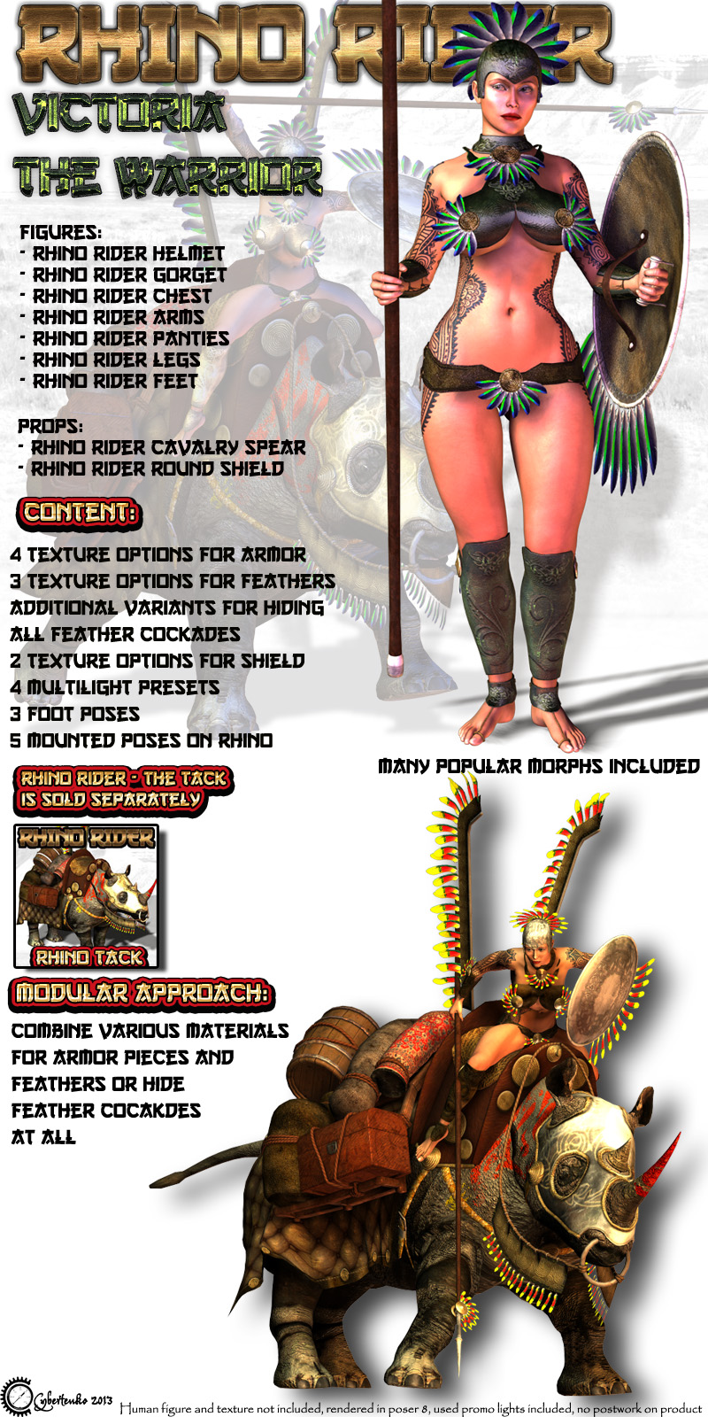 Rhino Rider - Victoria the Warrior