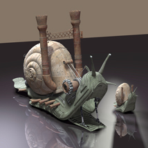 MS13 SteamPunk Snail & Baby 3D Models London224