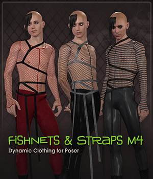 Fishnets & Straps for M4 3D Figure Essentials Frequency
