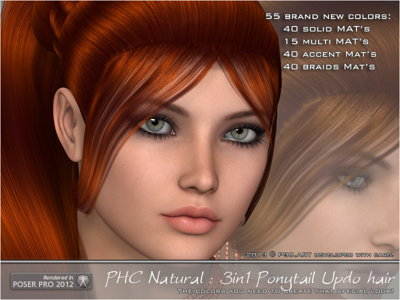 PHCNatural : 3 in 1 Ponytail