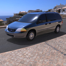 Ford Windstar 2000 (for Wavefront OBJ) Transportation Themed Digimation_ModelBank