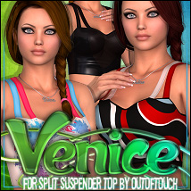 Venice for Split Suspender Top 3D Figure Assets ShanasSoulmate
