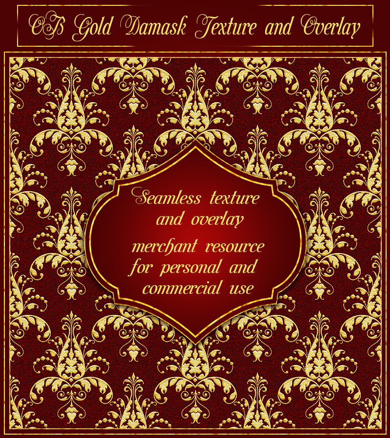OB Gold Damask Texture and Overlay