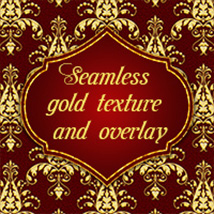 OB Gold Damask Texture and Overlay 2D And/Or Merchant Resources olbor