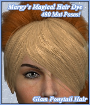 MMHD for Glam Ponytail Hair 3D Models 3D Figure Essentials MargyThunderstorm
