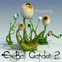 EyeBall Garden 2 Posable Themed Characters Animals Accessories Poisen