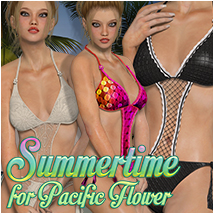 Summertime for Pacific Flower Clothing Atenais