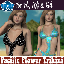 Pacific Flower Trikini Clothing Software Themed EmmaAndJordi