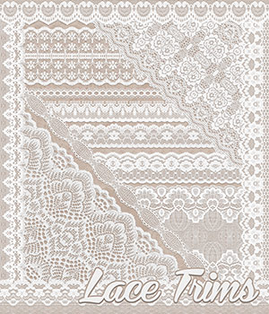 Lace Trims 2D Graphics Atenais