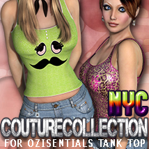 NYC Couture: OziTankTop Clothing 3DSublimeProductions