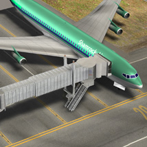 Air Bridge  for Poser and Vue  3D Models Digimation_ModelBank