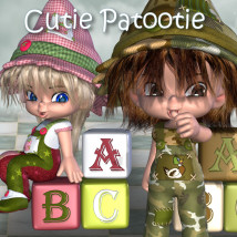 Cutie Patootie 3D Figure Essentials 3D Models JudibugDesigns