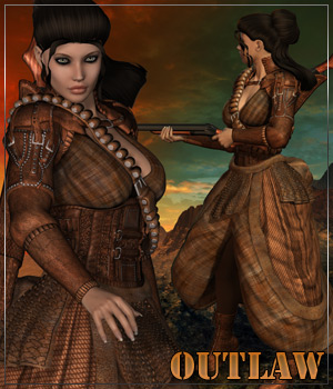 OUTLAW for Outlanders:Mama Shotgun Clothing Hair Themed Anagord