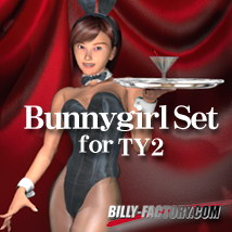 TY2 Bunnygirl Set 3D Figure Assets billy-t