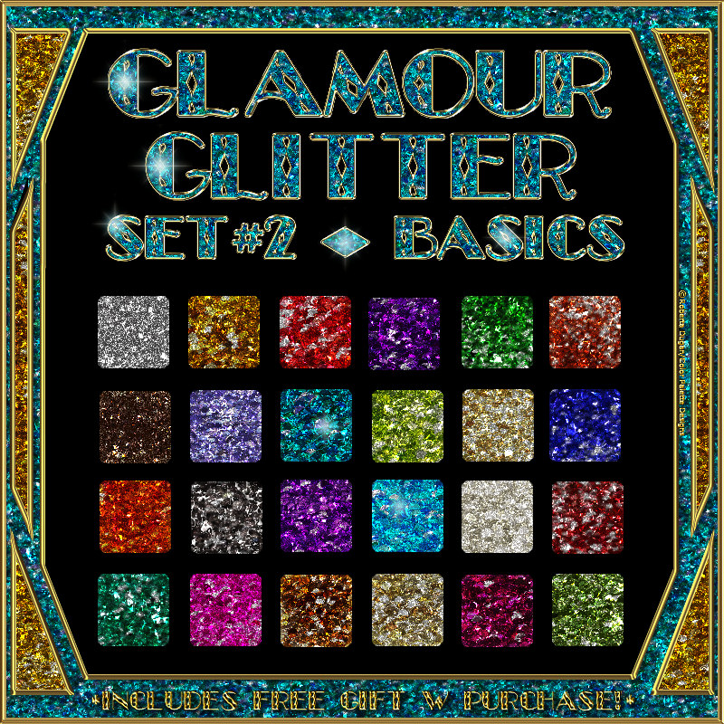 BLING! GLAMOUR GLITTER Set 02 Basics