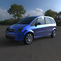 Chevrolet Meriva 2003 (for Wavefront OBJ) Transportation Themed Digimation_ModelBank